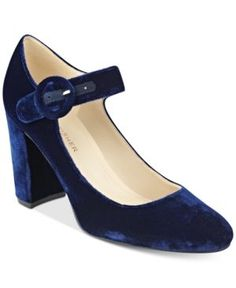 Marc Fisher Shaylie Mary Jane Pumps - Blue 6M
