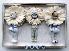 Plaster and Antique Doll mixed media assemblage wall art plaque