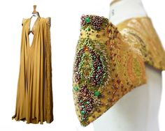 Game of Thrones season 4. Embroidery detail of Elaria Sand's costume from the 'purple wedding'