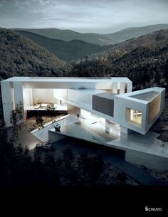 Creato Architects | Casa Aqua Would love to try this layout with shipping…