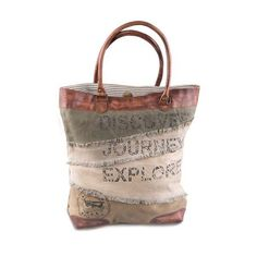 Journey - Reclaimed Canvas Tote Bag