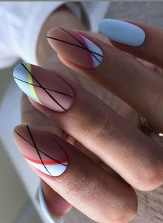 Beautiful Manicure Nails For Short Nails Design Ideas -Square & Almond Nails - - Square & Almond Nails -Short nails design, short acrylic nails, short square nails, short coffin na - Almond Acrylic Nails, Cute Acrylic Nails, Acrylic Nail Designs, Cute Nails, Minimalist Nails, Nail Manicure, Gel Nails, Coffin Nails, Short Almond Nails