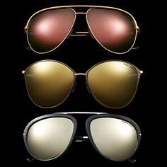 Classic TOM FORD Sunglasses updated with Flash Lenses. #TOMFORD