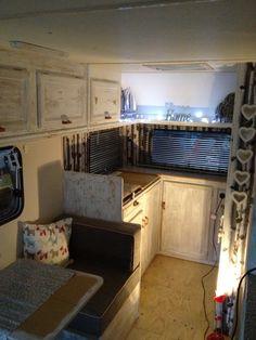 Starting to look like it's loved #caravan restoration #vintage caravan #caravan revamp