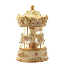 Laxury 4-horses Carousel Music Box in Standard Size Model Mp-926a with Changing LED Light by Laxury. $59.99
