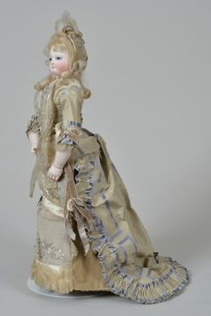 Elegant French Fashion Lady with Kid over Wood Body - 18 Inches