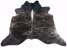 Angus Brindle Cowhide Rug Size: 6.5' X 6.5' Dark Brindle Cowhide Rug j-462 #cowhidesusa #Contemporary