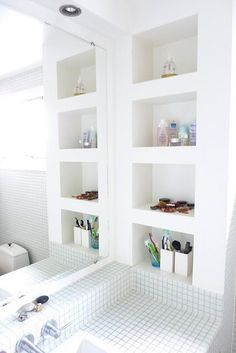 In wall shelves