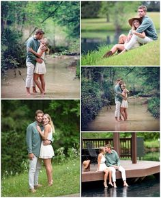Pond and creek couples Photography  Engagement Poses