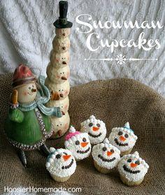 Snowmen Cupcakes on