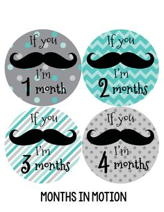 Baby Boy Monthly Baby Stickers Style #217