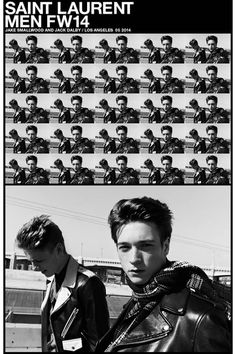 Jake Smallwood and Jack Dalby for Saint Laurent Fall-Winter 2014/2015. See more stellar ad campaigns from Fall 2014 here!