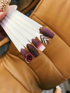 Spectacular Nail Design Ideas To Try Asap - Nail designs or nail art is a very simple concept - designs or art that is used to decorate the finger or toe nails. They are used predominately to en. Glam Nails, Fancy Nails, 3d Nails, Matte Nails, Love Nails, Beauty Nails, Bling Nails, Beauty Makeup, 3d Nail Designs