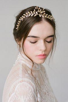 Bridal Hair Wreath/Wedding Headpiece via @etsy