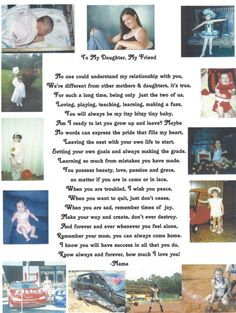 Daughter Poems From Parents | This was the ad I put in her senior yearbook.