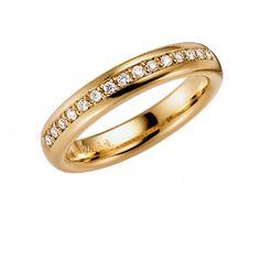 Vielsesring i guld med diamanter - Allians, Fortuna