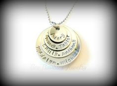 Mothers Day Gift  Hand Stamped Personalized by BeeBaublesJewelry, $32.00