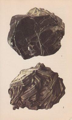 Vintage Print Rocks and Minerals Mica Crystals by PineandMain. $6.00, via Etsy.