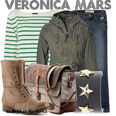 Inspired by Kristen Bell as title character from the TV series Veronica Mars.