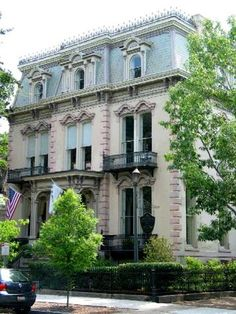 Hamilton Turner in Savannah, GA My DREAM. A little bit out of my price range right now! Turner House, Tybee Island, Lds Temples, France, Victorian Homes, My Dream Home, Curb Appeal, Savannah Chat, Facade
