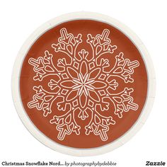 Shop Christmas Snowflake Nordic Paper Plates created by photographybydebbie. Christmas Paper Plates, Christmas Table Decorations, Christmas Snowflakes, Holiday Tables, Snowflake Designs, Party Tableware, Black Decor, Holiday Festival, Craft Party