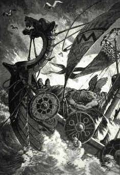 Vikings believed in an afterlife, or a life after death. The souls of most people were thought to go to Hel, place like Earth, where they would stay until Ragnarok. Evil people became ghosts, while warriors who died in battle were taken to Valhalla, Odin's hall.