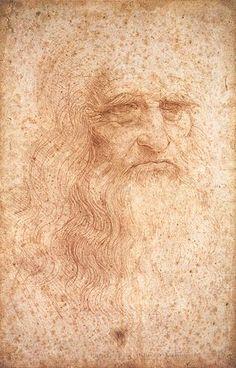 Leonardo da Vinci – Autorretrato presumido, c. 1512 – sanguínea