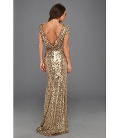 Badgley Mischka gold dress (back)