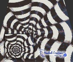 Optical Cones Mini C2C Twin Blanket Crochet Pattern - PDF Download