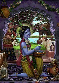 Little Krishna, Baby Krishna, Cute Krishna, Yashoda Krishna, Krishna Radha, Hanuman, Krishna Statue, Radha Rani, Lord Krishna Images