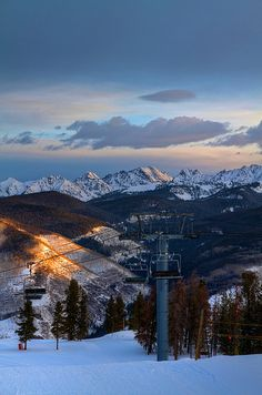 Sunrise on the Mountain, Ski Resort. I remember skiing down with Pastor Don in his robe, after Easter sunrise service. Oh The Places You'll Go, Places To Travel, Places To Visit, Vail Ski Resort, We Are The World, Dream Vacations, The Great Outdoors, Skiing, Snowboarding