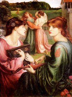 Dante Gabriel Rossetti (1828-1882)  The Bower Meadow  Oil on canvas, 1871-1872  67.3 x 85.1 cm (26½