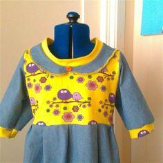 Knekort kjole i str 7 år - eget design