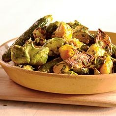Roasted Summer Squashes with Caper Gremolata   CookingLight.com #myplate #vegetables