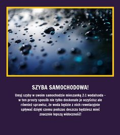 Oto świetny patent na czystą szybę w samochodzie! Good To Know, Did You Know, Life Guide, Simple Life Hacks, Good Advice, Cleaning Hacks, Helpful Hints, The Cure, Knowledge