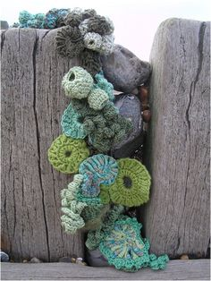 "Crystal Gregory's ""Hook and Scumble"" reminds me of the sea creatures in the Crochet Coral Reef Project"