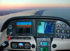 Cirrus SR-22 cockpit.  You can fly this too!  Call us!