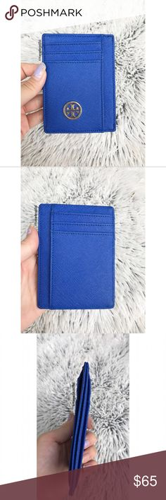Tory Burch Royal Blue Card Holder Tory Burch 100% authentic royal blue card holder • 6 card slots and 2 larger slots along with a side slot • excellent condition! • {color may vary slightly from photos taken in daylight} NO TRADES Tory Burch Accessories Key & Card Holders