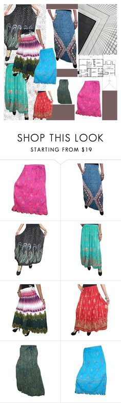 """Long Flowy Skirts"" by tarini-tarini ❤ liked on Polyvore featuring COVERGIRL, skirt, tops and bohoskirt"