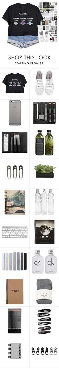 """The piercing radiant moon, the storming of poor june"" by spottdrossel ❤ liked on Polyvore featuring Superga, Native Union, BOBBY, Sephora Collection, Lux-Art Silks, Calvin Klein, Falke, Clips, Paperchase and Sharpie"
