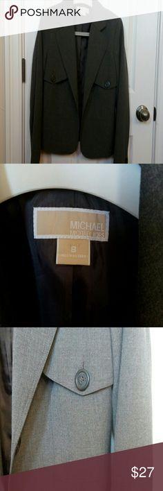 MICHEAL MICHEAL KORS Blazer MICHEAL MICHEAL KORS Gray Blazer.Very elegant.  Material:  62% Polyester 34% Viscose 4% Elastane MICHAEL Michael Kors Jackets & Coats Blazers