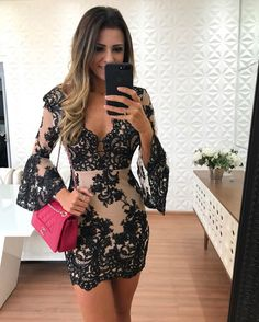 Outstanding Evening Gowns for Ladies Best Prom Dresses, Homecoming Dresses, Short Dresses, Beautiful Dresses, Ideias Fashion, Lace Dress, Evening Dresses, Party Dress, Fashion Dresses