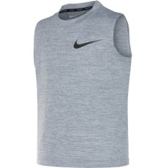 Your young superstar already looks like a pro in the Nike® Dri-FIT® Training Sleeveless Shirt. Crafted from Dri-FIT® jersey fabric, this tank helps…