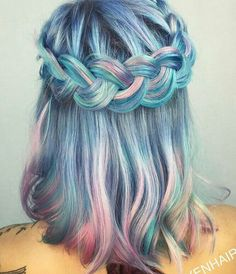 Purple Violet Red Cherry Pink Bright Hair green turquoise Colour Color Coloured Colored Fire Style curls haircut lilac lavender short long mermaid blue green teal orange hippy boho   Pulp Riot