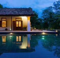 Maya's turquoise, wraparound swimming pool practically begs for you to dive in. #Indistay | Maya, Sri Lanka