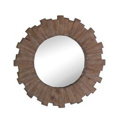 Wooden Sunburst Wall Mirror - 18034666 - Overstock - Great Deals on Mirrors - Mobile
