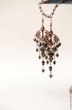 Small Earrings, Bead Earrings, Chandelier Earrings, Wire Jewelry, Beaded Jewelry, Jewelery, Earrings Handmade, Handmade Jewelry, Unique Jewelry