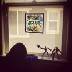 My Father's World Adventures in US History - Jesus Window Poster - Week 3