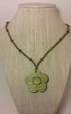 Check out this item in my Etsy shop https://www.etsy.com/listing/263744064/green-flower-macrame-hemp-neckace