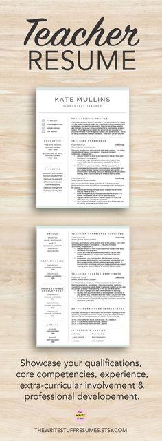 Teacher Resume Template for Word, Free Cover Letter Template - teachers resume example